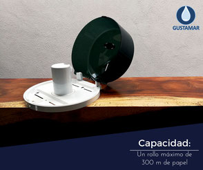 CAPACIDAD DEL DESPACHADOR DE PAPEL HIGIÉNICO INSTITUCIONAL JOFEL MINI FUTURA AE57400