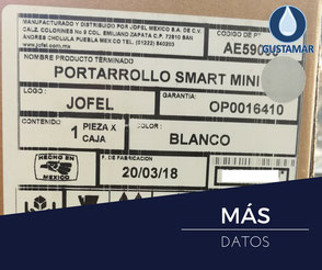 MÁS DATOS DEL DESPACHADOR DE PAPEL HIGIÉNICO INSTITUCIONAL JOFEL  MINI SMART AE59000