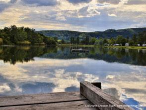 Bild mit Beispiel für Landschaftsfotografie, hier See Bad Dürkheim.