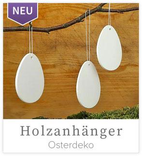 Holzanhänger - Eier