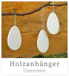 Holzanhänger Eier, 8-er Set