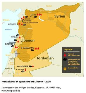 Franziskaner in Syrien und im Libanon 2016