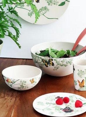 La nouvelle collection de vaisselle en bambou et maïs.