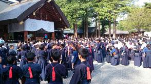 北海道神宮で剣道大会