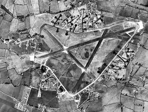 Aerial photograph of Keevil airfield looking north, 4 March 1944