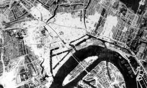 The destroyed part in May 1940 (brandgrens.nl)