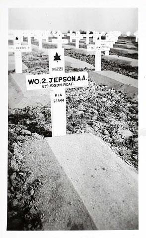 Grave of Air Gunner Alan Arthur Jepson on Groesbeek War Cemetery