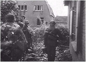German Troops ready to attack British troops in the Stationsweg area.