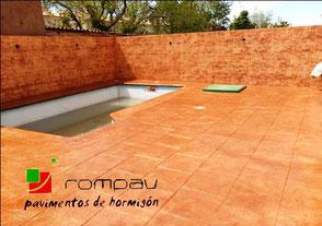 hormigon impreso Rompav en Guadalajara