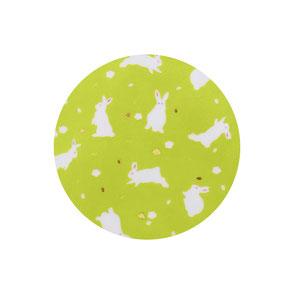 Usagi Lapins Washi Mini Assiette Vert Tilleul