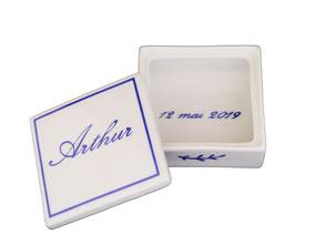 boîte à dragées en porcelaine personnalisée