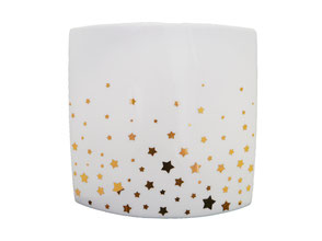 Vase porcelaine noël étoiles or Constellation