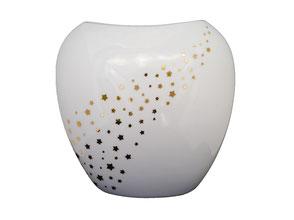 Vase porcelaine noël étoiles or fêtes Voie lactée