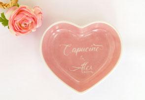 Coupelle porcelaine personnalisées Saint Valentin