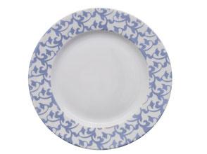 Nara Porcelaine peinte à la main - Trianon Assiette Empire Dessert Bleu Lavande
