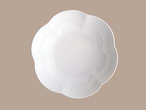 assiette creuse porcelaine fleur