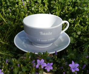 grande tasse en porcelaine personnalisée pour un garçon