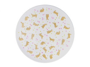 Usagi lapin plat tarte Nara Porcelaine