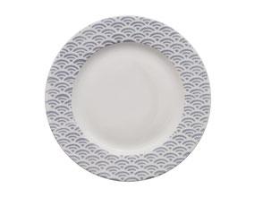 Assiette Vagues Japonaises seikaiha Nara Porcelaine