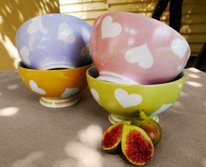 Bols Coeurs Tentation Porcelaine Saint Valentin