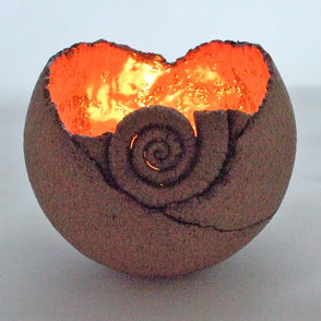 Keramik-Windlicht; Keramik-Windlicht-Kugel; Keramik Nürnberg; lovely-cera  ~ schöne Keramik-Kunst Nürnberg