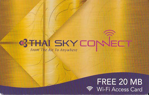Internet im Flugzeug Thai Airways