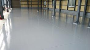 さいたま市岩槻区の工場、防塵塗装、塗床工事完了の写真