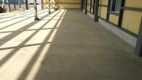 さいたま市岩槻区の工場、塗床工事前の写真