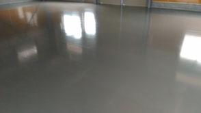 さいたま市岩槻区の工場、塗床フローンクリート完了写真