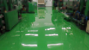 さいたま市の工場、塗床フローン55工事完了写真