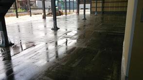 さいたま市岩槻区の工場、塗床、下塗り完了の写真