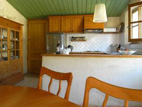 keuken vakantiehuis Montagne Aurel Drôme