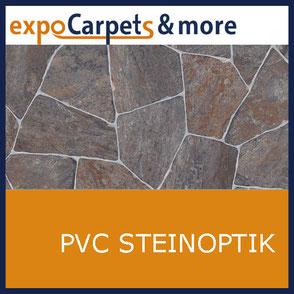 PVC Steindekor geprägt von expoCarpets & more