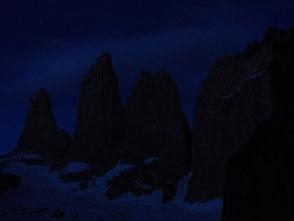 Les Torres del Paine de nuit
