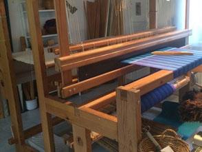 Webstuhl in meinem Atelier in St. Ursanne
