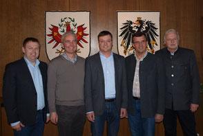 Foto Gemeinde Kundl: v.l. Dessl, Margreiter, Hoflacher, Margreiter, Koller