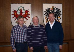 Foto Gemeinde Kundl: v.l. Schwaiger, Gruber, Krail