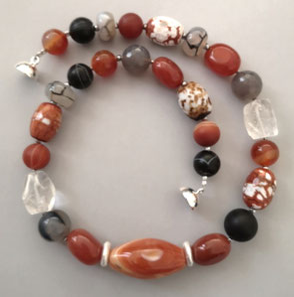 Ohrringe aus Lava und Perle mit Silber; Süßwasserperlen, Sterlingsilber, Perlenschmuck, Süßwasserperlen, Perlenkette, Perlenarmband