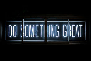 Do Something Great electric sign