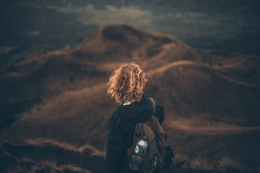 woman looking into the horizon