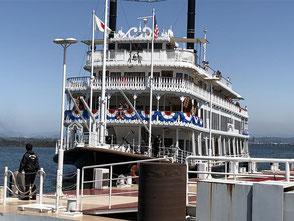 浜大津港の観光船ミシガン