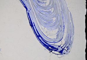 Detail von:  Drift in Blau  III  /  2014