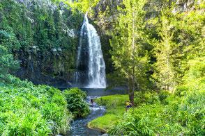baignade et randonnée à grand bassin cascade voie de la mariée ayapana