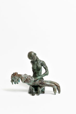 Figur 267C + 268, Bronze, 2015, 21,5x26x13,5cm