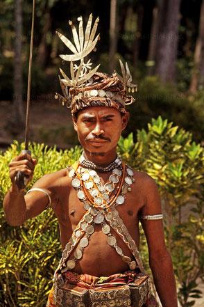 Stammeshäuptling auf Timor/Indonesien