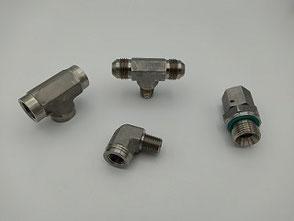 Hydraulik Adapter aus 1.4571 Edelstahl (V4A)