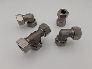 Rohrverschraubungen / Schneidringverschraubungen bzw. Ermeto-Verschraubungen aus 1.4571 Edelstahl (V4A) und Stahl
