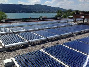 Solarthermieanlage für die Warmwasserbereitung