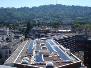 Solarthermieanlage und Gebäudetechnik