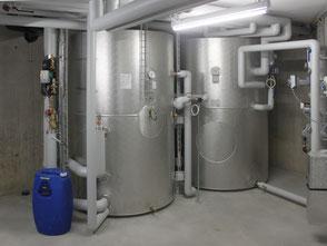 Warmwasseraufbereitung mit Solarenergie